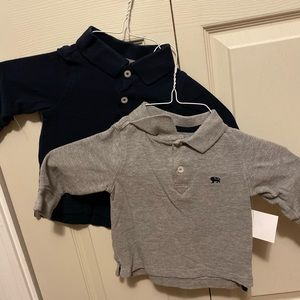 Pair of long sleeve polos